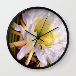 """""""Cactus Flower And Friend #1"""" Photograph Wall Clock"""