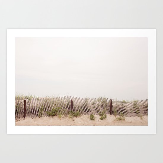 the lines at the beach Art Print
