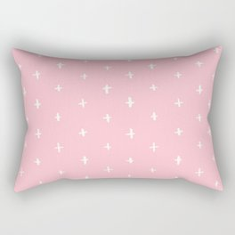 Pink Cross Pattern Rectangular Pillow