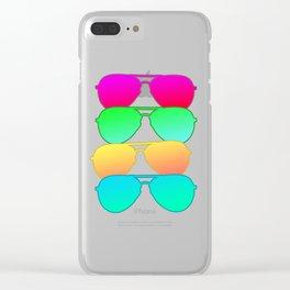 Multi Color Sunglasses Clear iPhone Case