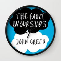 tfios Wall Clocks featuring TFiOS by Hoeroine