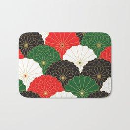 Japanese Chrysanthemum Bath Mat