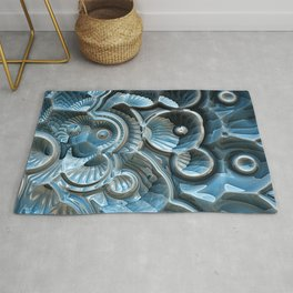 Reflections of A Fractal Fossil Rug