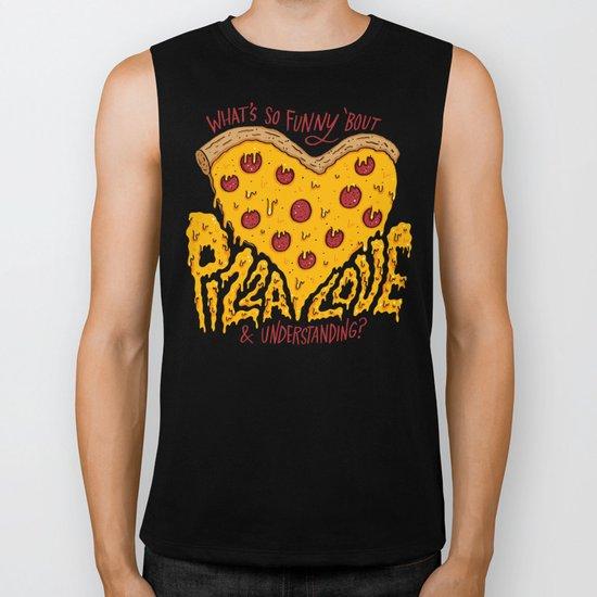 Pizza Love & Understanding Biker Tank