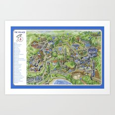 The Prisoner: The Village Portmeirion Art Print