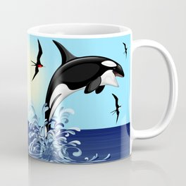 Orca Killer Whale jumping out of Ocean Coffee Mug