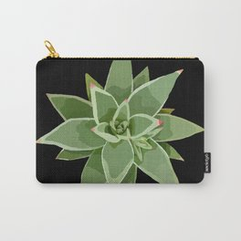 Succulent Species Echeveria agavoides 'Martin's Hybrid' Black Carry-All Pouch