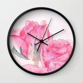 Vintage roses 17 Wall Clock