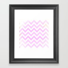 Pink Textured Chevron Pattern Framed Art Print