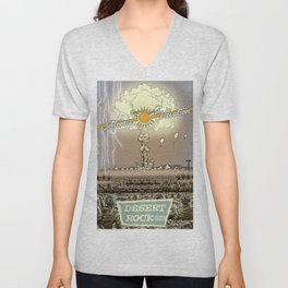 Atomic Vacation at Desert Rock Unisex V-Neck
