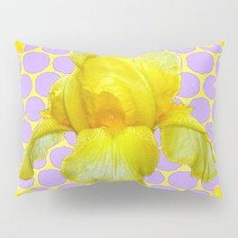 ABSTRACT YELLOW SPRING IRIS GOLDEN DAFFODILS FRAME Pillow Sham