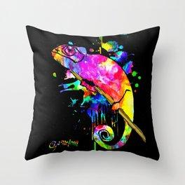 Chameleon Splash Throw Pillow