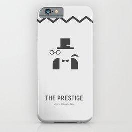 Flat Christopher Nolan movie poster: The Prestige iPhone Case