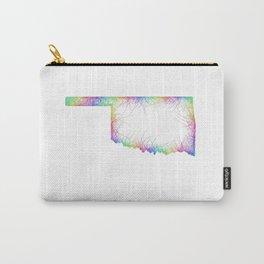 Rainbow Oklahoma map Carry-All Pouch
