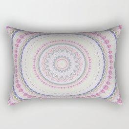 Watercolor Pastel Flowe Mandala Rectangular Pillow