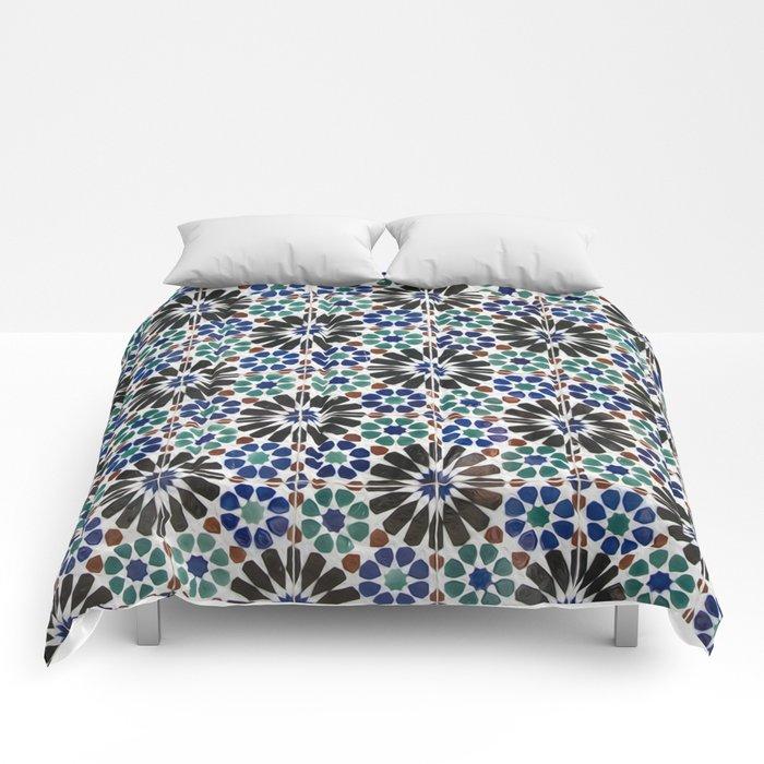 Azulejos Lisbon Portugal 4 Comforters