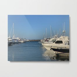 Boats on the harbour at Nelsons Bay, NSW, Australia Metal Print