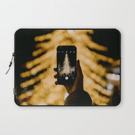 The Golden Christmas Tree (Color) Laptop Sleeve