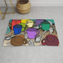 Cups and Spoons Rug
