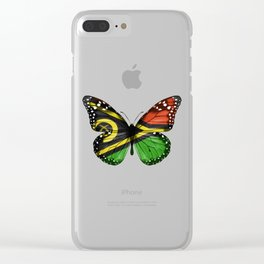 Butterfly Flag Of Vanuatu Clear iPhone Case