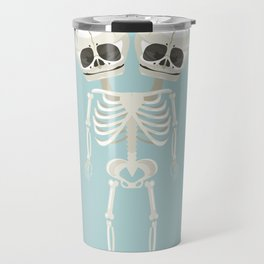 Siamese Twins Skeleton Travel Mug