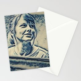 Swift Taylor Artistic Illustration Waves Style Stationery Cards