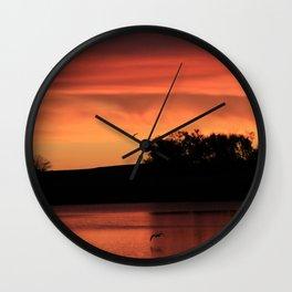 Fire Flyers Wall Clock