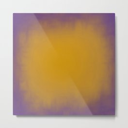 Yellow on purple abstract texture Metal Print