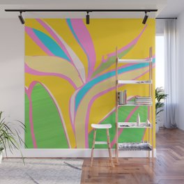 Bird of Paradise III - Bright Tropical Flower Wall Mural