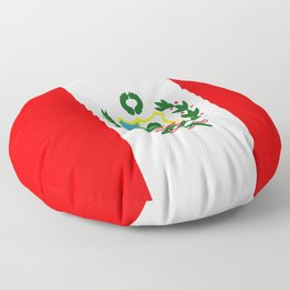 Flag of Peru Floor Pillow
