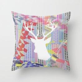 Deer'n pop Throw Pillow