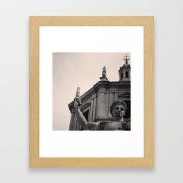 .statue's humanity. Framed Art Print