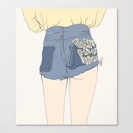 Daisy Shorts Canvas Print
