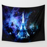paris Wall Tapestries featuring paRis galaxy dreams by 2sweet4words Designs