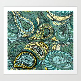 Meadow Paisley Art Print