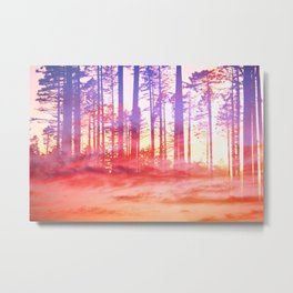 Artistic CVI - Dreamy Clouds Forest Metal Print