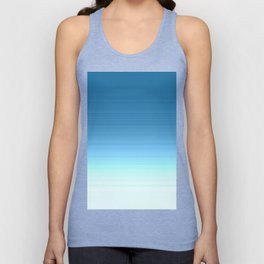 Sea blue Ombre Unisex Tank Top