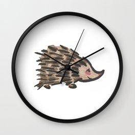 A Curiously Shy Hedgehog Wall Clock