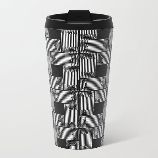 Xingu Pattern 2 Metal Travel Mug