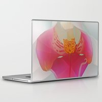 orchid Laptop & iPad Skins featuring Orchid by Dirk Petzold