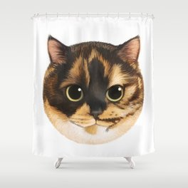 Round Cat - Lang Shower Curtain