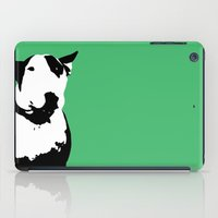 bull terrier iPad Cases featuring English Bull Terrier by Alex Birch