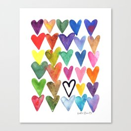 Hearts No. 1 Canvas Print