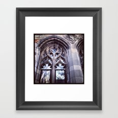 I can see your soul (Yale, CT) Framed Art Print