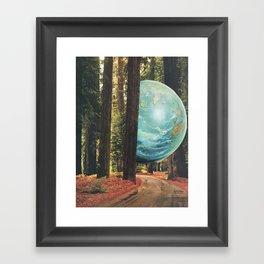 On the run. Framed Art Print