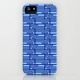 Blue Ocean Pattern | Sea | Geometric | Greece Inspired | Square Shapes | Art Deco | For Him iPhone Case