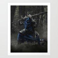 dark souls Art Prints featuring Artorias (Dark Souls fanart) by Artur Jag