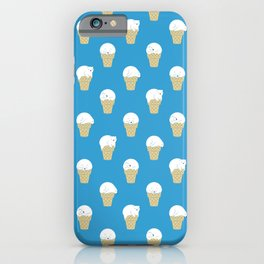 Polar Bear Ice Cream Pattern iPhone Case