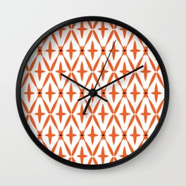 Orange Integration Pattern 1 Wall Clock
