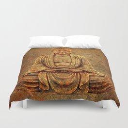 Sand Stone Sitting Buddha Duvet Cover